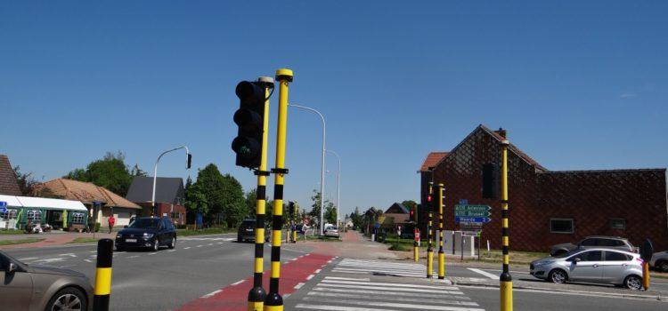Aanpak onveilig kruispunt Brusselsesteenweg-Damstraat